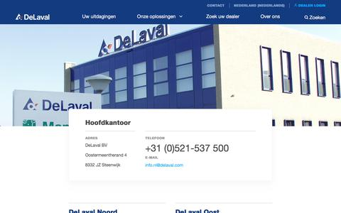 Screenshot of Contact Page delaval.com - Contact - DeLaval - captured Jan. 6, 2018