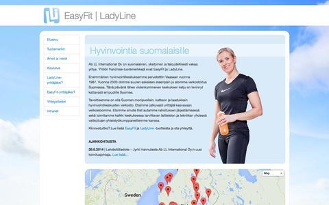 Screenshot of Home Page lli.fi - lli.fi   Hyvinvointia suomalaisille - captured Oct. 4, 2014