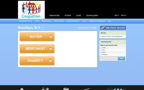 Screenshot of Signup Page coupathon.com - Create New Customer Account - captured Sept. 30, 2014