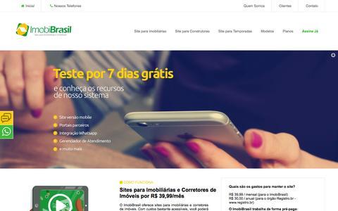 Screenshot of Home Page imobibrasil.com.br - IMOBIBRASIL - Site para Imobiliárias por R$ 39,99 - captured Aug. 23, 2016