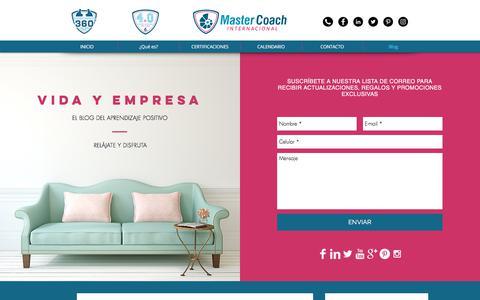 Screenshot of Blog mastercoach.mx - Blog | México | Master Coach Internacional - captured July 6, 2018