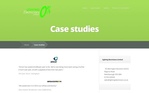 Screenshot of Case Studies Page lightingelectricians.co.uk - Case studies | lightingelectricians - captured Oct. 2, 2014