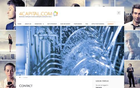 Screenshot of Contact Page 4capital.com - 4 CAPITAL Venture Capital & Crowd Funding - captured Feb. 23, 2016