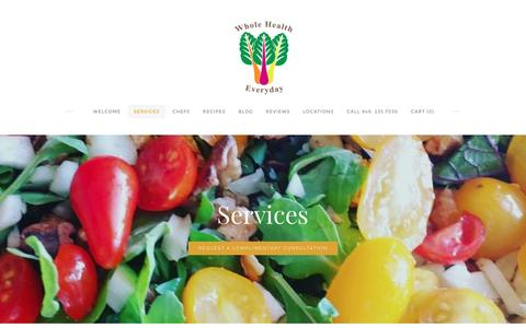Screenshot of Services Page wholehealtheveryday.com - Services - Whole Health Every Day - captured Dec. 12, 2016