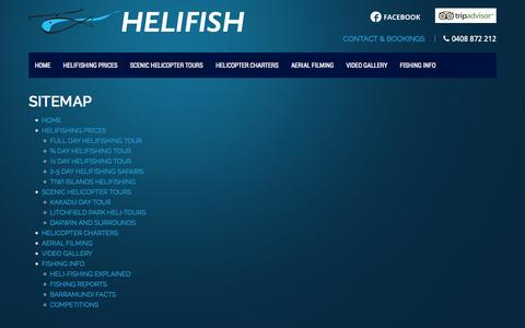 Screenshot of Site Map Page helifish.com.au - Sitemap - captured Sept. 23, 2014