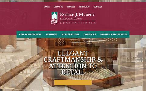 Screenshot of Home Page pjmorgans.com - Pipe Organ Builders | Pipe Organ Companies | PJM Organs - captured Jan. 22, 2016