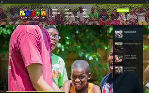 Screenshot of Home Page hiclc.org - Huntsville Inner City Learning Center | Building a spiritual, educational and moral foundation - captured Oct. 3, 2014