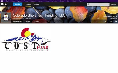 Screenshot of Flickr Page flickr.com - Flickr: Colorado Short Term Funding, LLC's Photostream - captured Oct. 22, 2014