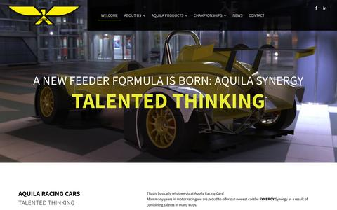 Screenshot of Home Page aquilaracingcars.com - Aquila Racing Cars - captured July 26, 2016