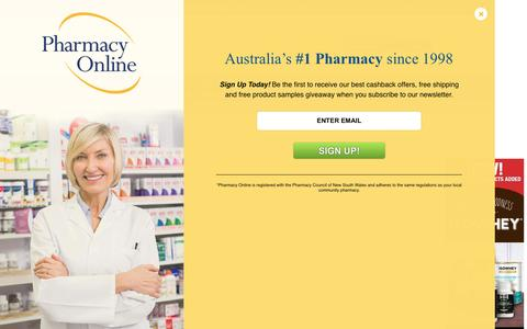 Screenshot of Site Map Page pharmacyonline.com.au - Site Map - captured July 12, 2016
