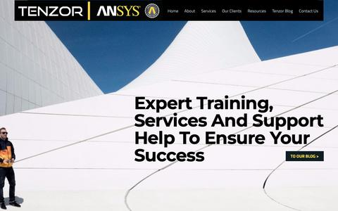 Screenshot of Home Page tenzor.co.il - TENZOR - ANSYS | HOME - captured Oct. 18, 2018