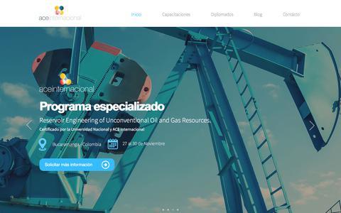 Screenshot of Home Page aceinternacional.com.co - Capacitación | ACE Internacional - captured Oct. 6, 2017