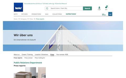 Screenshot of Press Page kela.de - Press reports - captured Oct. 21, 2018
