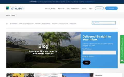 Screenshot of Blog homeunion.com - Real Estate Investment Property Advisors | HomeUnion Blog - captured Jan. 21, 2018