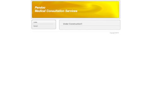 Screenshot of Home Page pendoc.org - Home1 - Pendoc Medical Consultation Services - captured Sept. 27, 2018