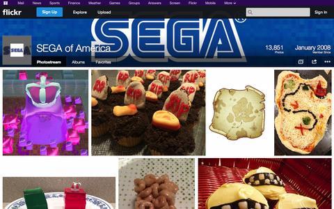 Screenshot of Flickr Page flickr.com - Flickr: SEGA of America's Photostream - captured Oct. 23, 2014