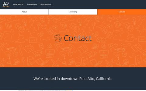 Screenshot of Contact Page a9.com captured Sept. 21, 2018