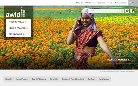 Screenshot of Contact Page awid.org - Contact Us   AWID - captured Jan. 14, 2016