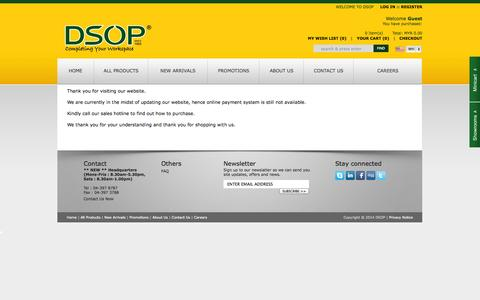 Screenshot of FAQ Page dsop.com.my - DSOP - Completing Your Workspace - captured Sept. 19, 2014