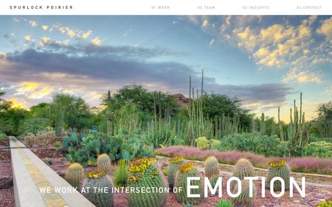 Screenshot of Home Page sp-land.com - Spurlock Poirier - captured Aug. 17, 2015