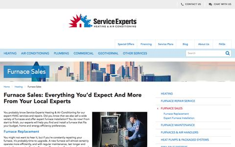 Furnace Sales in North America | Service Experts