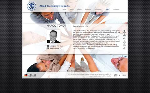 Screenshot of Team Page ateel.lu - Allied Technology Experts - captured Feb. 5, 2016