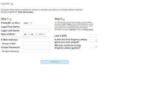 Screenshot of Landing Page valottery.com captured Aug. 19, 2016