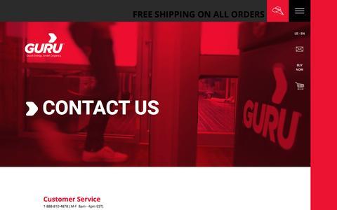 Screenshot of Contact Page guruenergy.com - Contact us - GURU ENERGY - captured Oct. 18, 2016