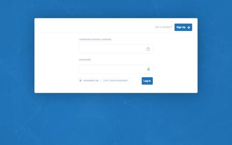 Screenshot of Login Page ienetwork.ie - Register – IE Network - captured Oct. 12, 2018