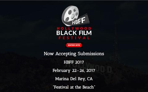 Screenshot of Home Page hbff.org - Coming Soon - Hollywood Black Film Festival - captured Nov. 11, 2016