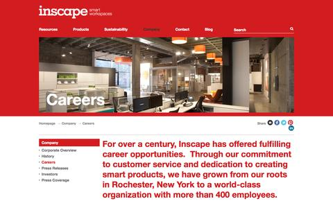 Screenshot of Jobs Page inscapesolutions.com - Careers - Inscape Corporation - captured Oct. 6, 2014