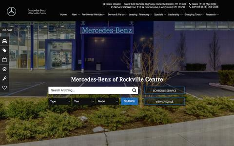 Screenshot of Home Page mbrvc.com - Mercedes-Benz Dealer Serving Massapequa, Long Island | Mercedes-Benz of Rockville Centre - captured Nov. 28, 2016