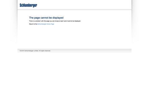 Screenshot of Site Map Page slb.com - Error   Schlumberger - captured Nov. 19, 2016