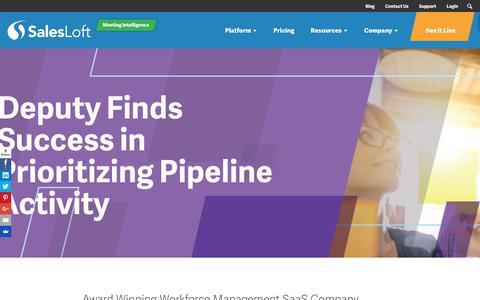 Screenshot of Case Studies Page salesloft.com - Deputy Finds Success in Prioritizing Pipeline Activity - SalesLoft - captured Sept. 19, 2018