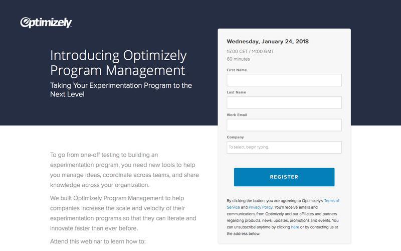 Introducing Optimizely Program Management