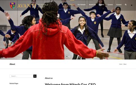 Screenshot of About Page avanti.org.uk - About - Avanti Schools Trust - captured Oct. 4, 2018