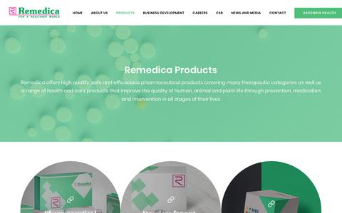 Screenshot of Products Page remedica.eu - Remedica Ltd - Our Products - captured Oct. 18, 2018