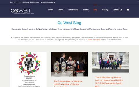 Screenshot of Blog gowest.ie - Blog - Go West - captured Nov. 5, 2018