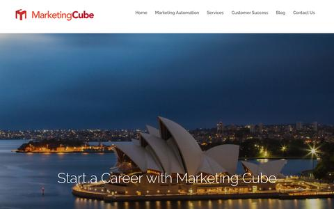 Screenshot of Jobs Page marketingcube.com.au - Careers   Marketing Cube - captured July 26, 2018