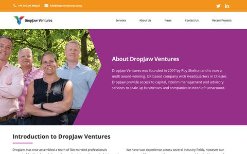 Screenshot of About Page dropjawventures.co.uk - About Us | An Introduction To DropJaw Ventures | DropJaw Ventures - captured Oct. 9, 2018