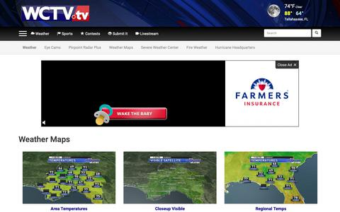 Screenshot of Maps & Directions Page wctv.tv - Eyewitness News  | Tallahassee, Thomasville, Valdosta | Weather Maps - captured Oct. 15, 2018