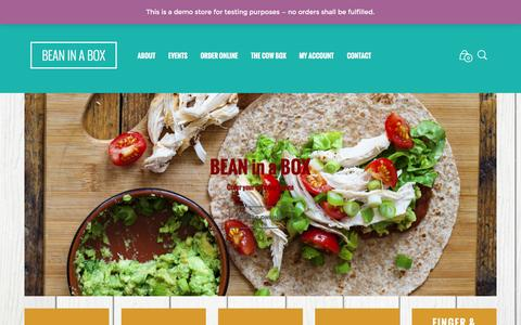 Screenshot of Home Page bean-inabox.co.uk - BEAN in a BOX | Outside and event catering in Derbyshire - captured Jan. 7, 2017