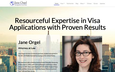 Screenshot of Home Page janeorgel.com - Jane Orgel – Attorney At Law - captured Oct. 1, 2018