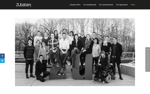 Screenshot of Team Page zu-taten.de - Team - ZUtaten - captured Feb. 26, 2016