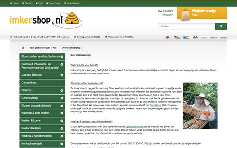 Screenshot of Team Page imkershop.nl - Over de Imkershop - Imkershop - captured Nov. 26, 2016