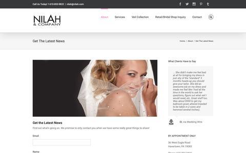 Screenshot of Signup Page nilah.com - Nilah & Company -   Get The Latest News - captured Oct. 19, 2018