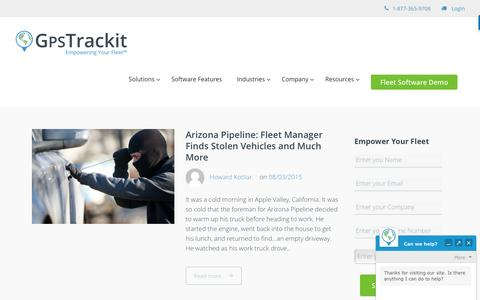 Screenshot of Case Studies Page gpstrackit.com - Customer Success Case Studies Archives - captured Aug. 28, 2016