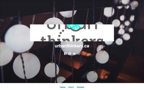 Screenshot of About Page wordpress.com - About – urbanthinkers.ca - captured Sept. 20, 2018