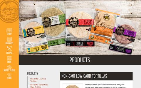 Screenshot of Products Page latortillafactory.com - Products - La Tortilla Factory - captured May 14, 2017