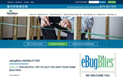 Screenshot of Signup Page pestdefense.com - eBugBites Sign Up - HomeTeam Pest Defense - captured Nov. 13, 2017